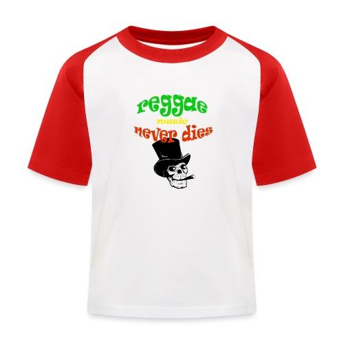 Reggae Muziek Never Dies - Kinderen baseball T-shirt