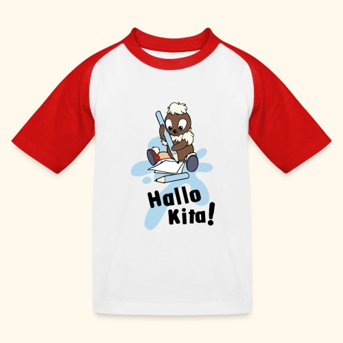 Pittiplatsch Hallo Kita! - Kinder Baseball T-Shirt