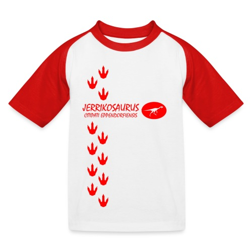 Jerrikosaurus red - Kids' Baseball T-Shirt