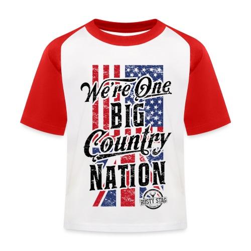 Country Nation - Kids' Baseball T-Shirt