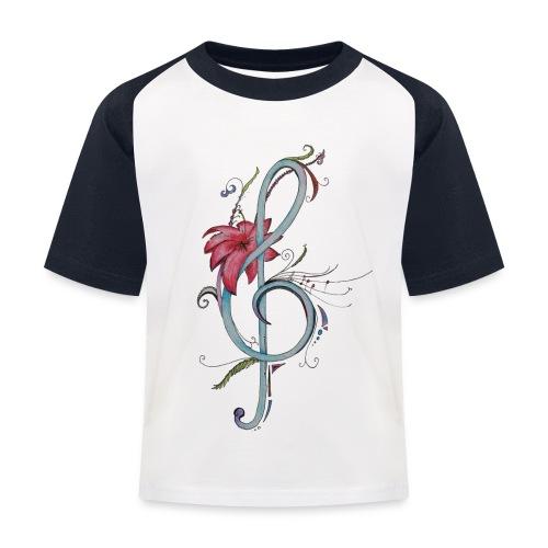 Notenschlüssel - Kinder Baseball T-Shirt