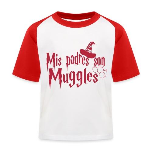 Mis padres son Muggles - Camiseta béisbol niño