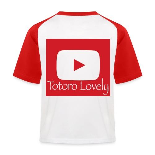Totoro Lovely + YT logo bak, fram - Baseboll-T-shirt barn