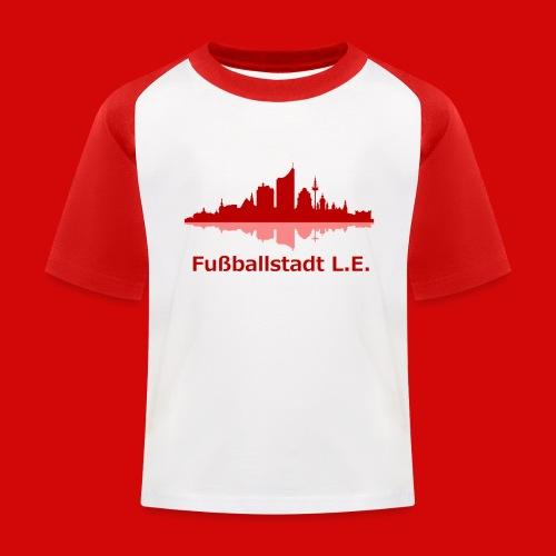 Fußballstadt L E png - Kinder Baseball T-Shirt