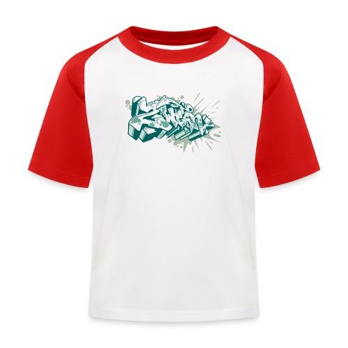 Dae 2Wear graffiti style ver2 Green edt - Baseball T-shirt til børn