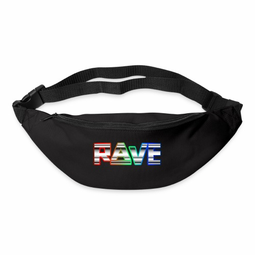 Rave Neon Rainbow Psy Text Techno Family - Gürteltasche