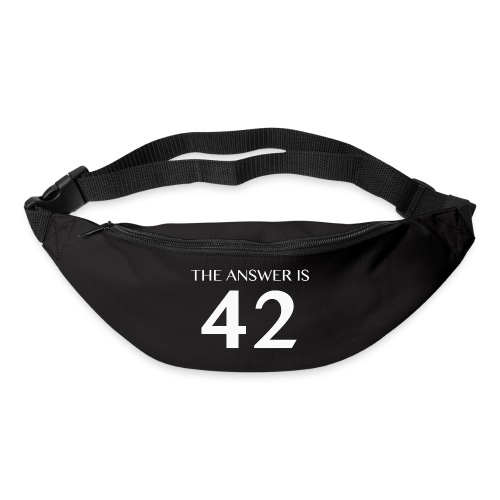 The Answer is 42 White - Bum bag
