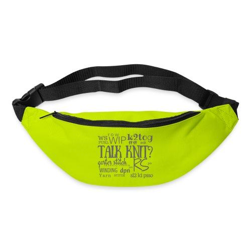 Talk Knit ?, gray - Bum bag