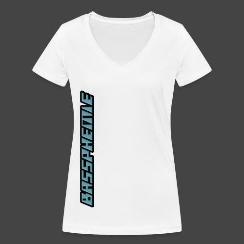 Bassphemie - Blau (Original Design) - Frauen Bio-T-Shirt mit V-Ausschnitt von Stanley & Stella