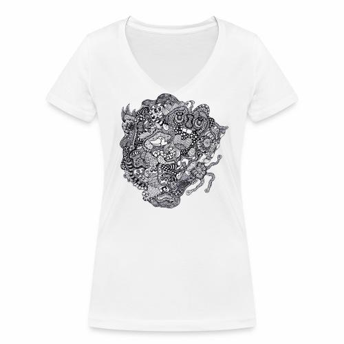 Crazy Duck - T-shirt bio col V Stanley & Stella Femme