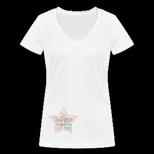 PAS Star Colors - Frauen Bio-T-Shirt mit V-Ausschnitt von Stanley & Stella