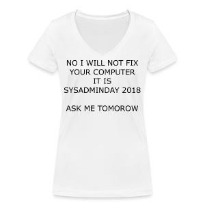 fixpc - Women's Organic V-Neck T-Shirt by Stanley & Stella