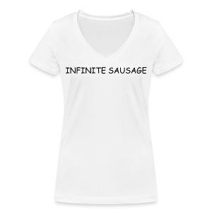 INFINITE SAUSAGE - Vrouwen bio T-shirt met V-hals van Stanley & Stella
