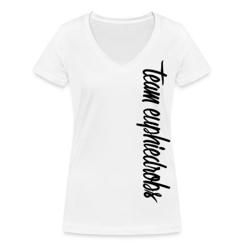 team euphiedrobs schwarzer Schriftzug - Frauen Bio-T-Shirt mit V-Ausschnitt von Stanley & Stella
