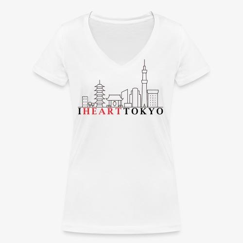 I HEART TOKYO Ver.1 - Women's Organic V-Neck T-Shirt by Stanley & Stella
