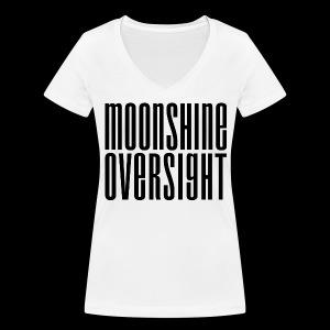 Moonshine Oversight noir - T-shirt bio col V Stanley & Stella Femme