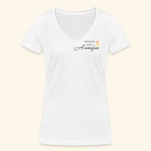 Aromafrau - Frauen Bio-T-Shirt mit V-Ausschnitt von Stanley & Stella