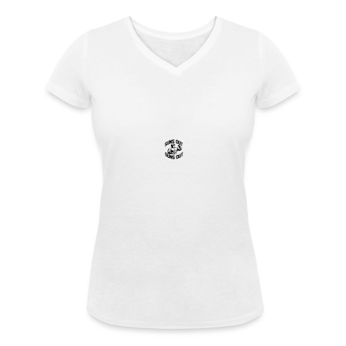 suns out guns out - Women's Organic V-Neck T-Shirt by Stanley & Stella
