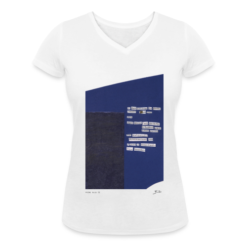 poème bleu 01 - T-shirt bio col V Stanley & Stella Femme
