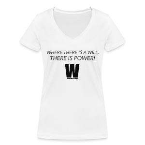 Willpower Science - Women's Organic V-Neck T-Shirt by Stanley & Stella