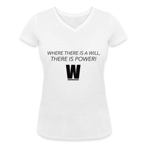 Willpower Science - Women's Organic V-Neck T-Shirt by Stanley & Stella