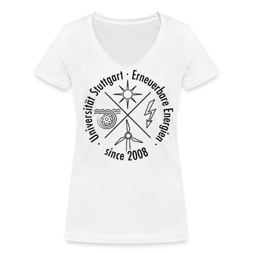 Erneuerbare Energien Schwarz - Frauen Bio-T-Shirt mit V-Ausschnitt von Stanley & Stella