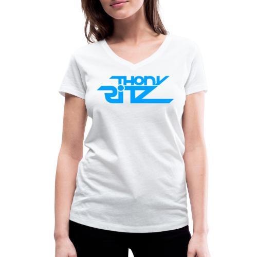 TR Logo Blue - T-shirt bio col V Stanley & Stella Femme