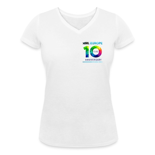 10th anniversary of XBRL Europe - Women's Organic V-Neck T-Shirt by Stanley & Stella