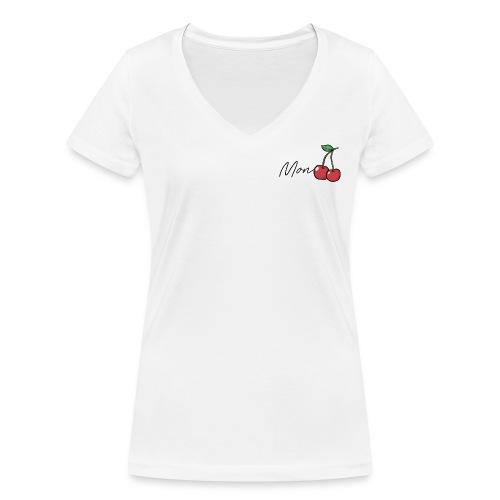 Mon Cherry - Frauen Bio-T-Shirt mit V-Ausschnitt von Stanley & Stella