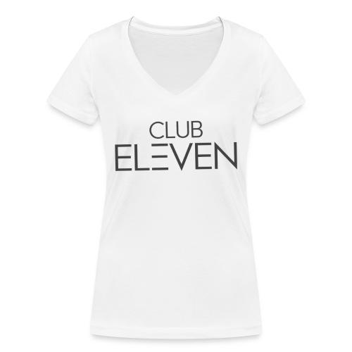 ClubEleven Schriftzug - Frauen Bio-T-Shirt mit V-Ausschnitt von Stanley & Stella