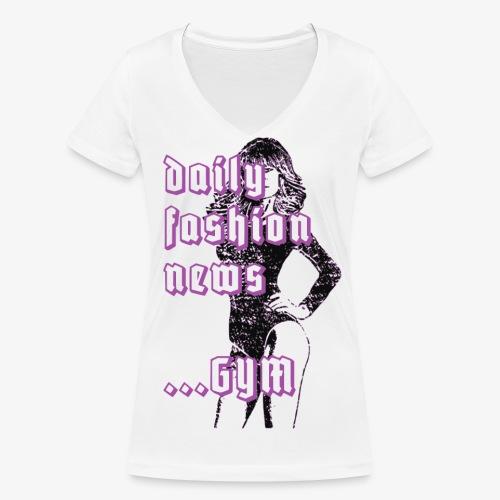 sexy Pin Up Girl daily fashion news gym 2reborn - Frauen Bio-T-Shirt mit V-Ausschnitt von Stanley & Stella