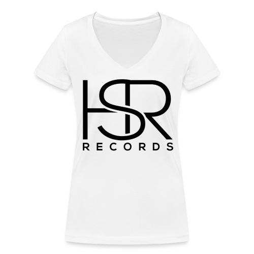 HSR RECORDS - T-shirt ecologica da donna con scollo a V di Stanley & Stella
