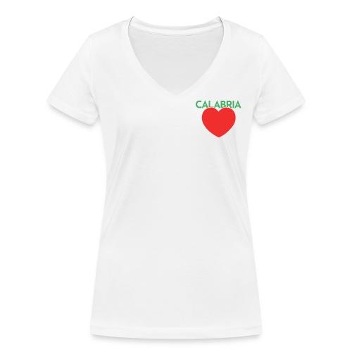 Disprocal TShirt Design Calabria Herz - Frauen Bio-T-Shirt mit V-Ausschnitt von Stanley & Stella