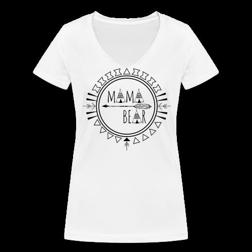 Mama Bear - Frauen Bio-T-Shirt mit V-Ausschnitt von Stanley & Stella