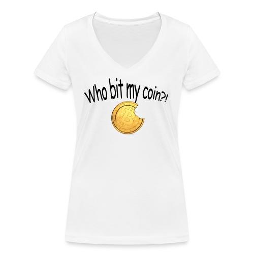 Bitcoin bite - Vrouwen bio T-shirt met V-hals van Stanley & Stella
