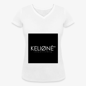 "Black KELIØNĖ ""design - Women's Organic V-Neck T-Shirt by Stanley & Stella"