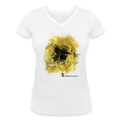 Live your Passion Sandkastenrocker - Frauen Bio-T-Shirt mit V-Ausschnitt von Stanley & Stella