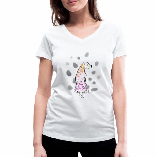 Dalmatiner bunt 02 - Frauen Bio-T-Shirt mit V-Ausschnitt von Stanley & Stella