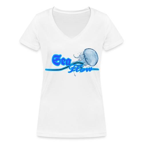 Sea Flow logo medusa abbigliamento - accessori - T-shirt ecologica da donna con scollo a V di Stanley & Stella