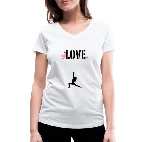 j'aime le yoga . - T-shirt bio col V Stanley & Stella Femme