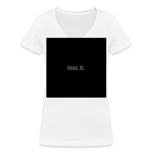 NO - Frauen Bio-T-Shirt mit V-Ausschnitt von Stanley & Stella