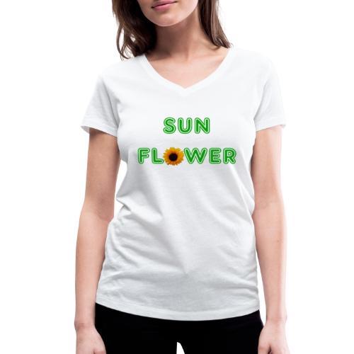 Sunflower Design - Frauen Bio-T-Shirt mit V-Ausschnitt von Stanley & Stella