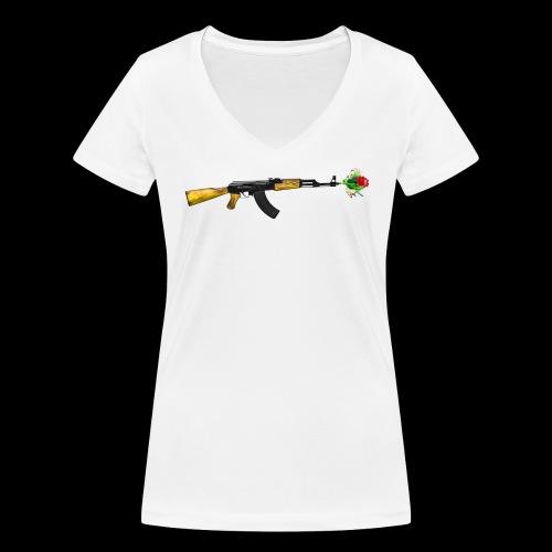AKFLOWER - Frauen Bio-T-Shirt mit V-Ausschnitt von Stanley & Stella