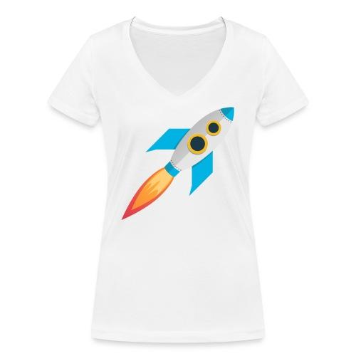 Rocket Magicline com Typo weiss DIN A3 - Frauen Bio-T-Shirt mit V-Ausschnitt von Stanley & Stella