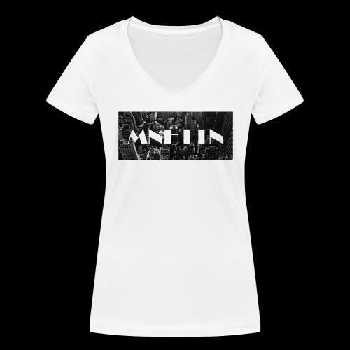 MNHTTN - New York Manhattan Downtown - Frauen Bio-T-Shirt mit V-Ausschnitt von Stanley & Stella