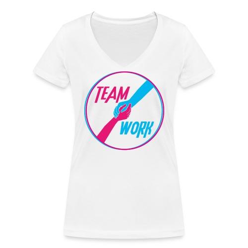 motivation équipe travail ensemble - T-shirt bio col V Stanley & Stella Femme