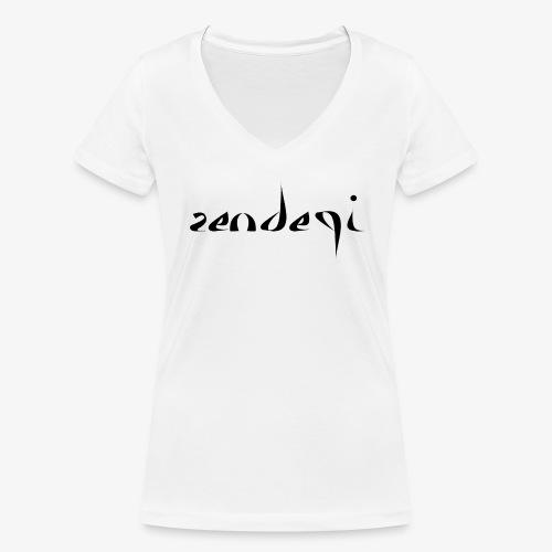 Zendegi (Leben) - Schwarz - Frauen Bio-T-Shirt mit V-Ausschnitt von Stanley & Stella