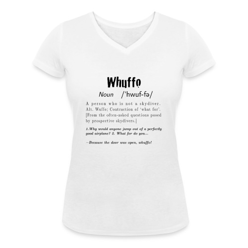 Whuffo black - Stanley & Stellan naisten v-aukkoinen luomu-T-paita