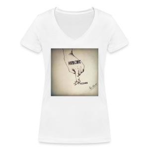 DerHardstyle.ch Hard_Core Techno - Frauen Bio-T-Shirt mit V-Ausschnitt von Stanley & Stella