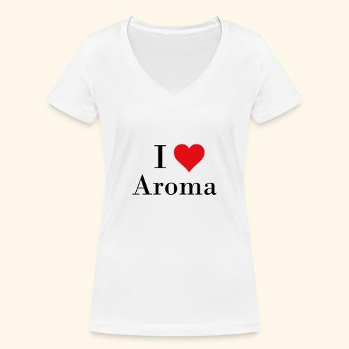 i love aroma - Frauen Bio-T-Shirt mit V-Ausschnitt von Stanley & Stella